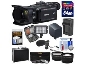 Canon Vixia HF G40 Wi-Fi 1080p HD Digital Video Camcorder with 64GB Card + Battery & Charger + Hard Case + LED + Microphone + Tele/Wide Lens Kit