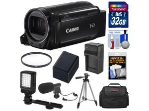 Canon Vixia HF R70 16GB Wi-Fi 1080p HD Video Camcorder with 32GB Card + Battery & Charger + Case + Tripod + LED Light + Microphone + Kit