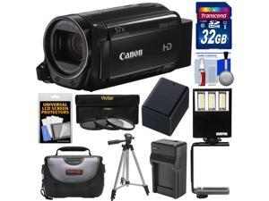Canon Vixia HF R72 32GB Wi-Fi 1080p HD Video Camcorder with 32GB Card + Battery & Charger + Case + Tripod + 3 Filters + LED Light + Kit