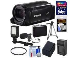 Canon Vixia HF R72 32GB Wi-Fi 1080p HD Video Camcorder with 64GB Card + Battery & Charger + Hard Case + Tripod + LED Light + Microphone + Kit
