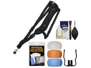 Vivitar SLING1 Padded Sling Digital SLR Camera Strap with Pop-Up Flash Diffusers + Kit