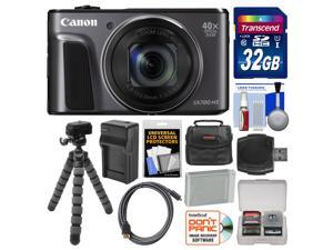 Canon PowerShot SX720 HS Wi-Fi Digital Camera with 32GB Card + Case + Battery & Charger + Flex Tripod + Kit