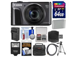 Canon PowerShot SX720 HS Wi-Fi Digital Camera with 64GB Card + Case + Flash + Battery & Charger + Tripod + Kit