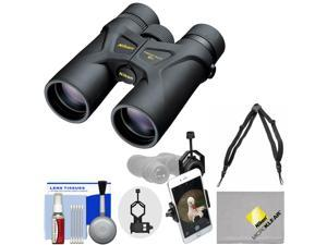 Nikon Prostaff 3S 10x42 Waterproof / Fogproof Binoculars with Case + Harness + Smartphone Adapter + Cleaning Kit