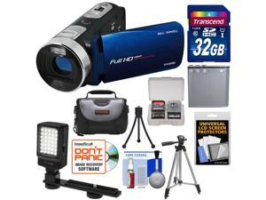 Bell & Howell Fun Flix DV50HD 1080p HD Video Camera Camcorder (Blue) with 32GB Card + Battery + Case + Tripods + LED Video Light + Kit
