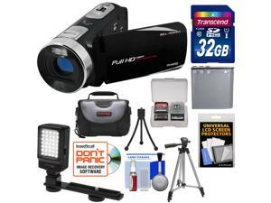 Bell & Howell Fun Flix DV50HD 1080p HD Video Camera Camcorder (Black) with 32GB Card + Battery + Case + Tripods + LED Video Light + Kit