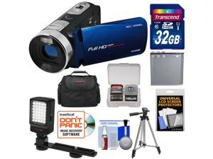 Bell & Howell Fun Flix DV50HD 1080p HD Video Camera Camcorder (Blue) with 32GB Card + Battery + Case + Tripod + LED Video Light + Kit