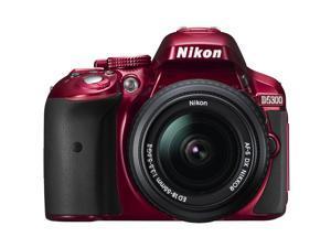 Nikon D5300 Digital SLR Camera & 18-55mm G DX II AF-S Zoom Lens (Red)
