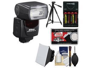 Nikon SB-700 AF Speedlight Flash with Batteries/Charger + Flash Diffuser + Tripod + Kit