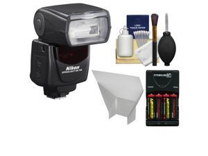 Nikon SB-700 AF Speedlight Flash with Batteries/Charger + Flash Reflector + Cleaning Kit