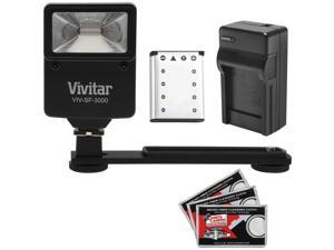Essentials Bundle for Kodak PixPro FZ51, FZ53 with LB-012 Battery + Charger + Flash & Bracket + Kit
