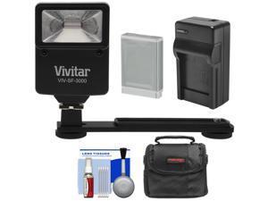 Essentials Bundle for Canon Powershot SX620, SX720 HS with NB-13L Battery + Charger + Case + Flash & Bracket + Kit