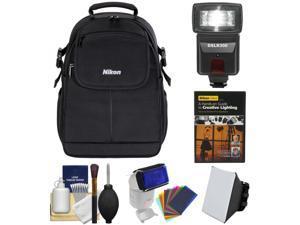 Nikon 17006 Compact Digital SLR Camera Backpack Case with Flash + DVD + Kit