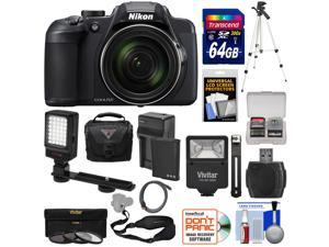 Nikon Coolpix B700 4K Wi-Fi Digital Camera with 64GB Card + Battery & Charger + Case + Flash + LED + Strap + Tripod + 3 Filters + Kit