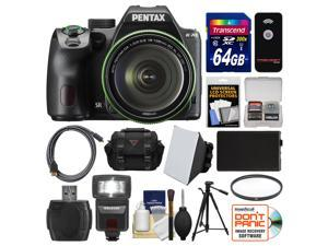 Pentax K-70 All Weather Wi-Fi Digital Camera & 18-135mm WR Lens (Black) with 64GB Card + Case + Flash + Battery + Tripod + Filter + Kit