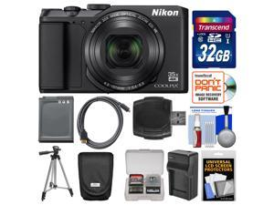 Nikon Coolpix A900 4K Wi-Fi Digital Camera (Black) with 32GB Card + Case + Battery + Charger & Tripod + Kit