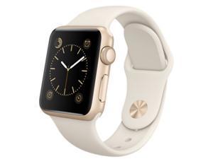 Apple Watch Sport 38mm Gold Aluminum Case with Antique White Sport Band (watchOS 2) (MLCJ2)(Gold / Antique White)