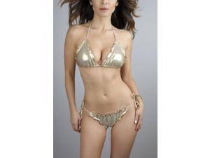 Ritchie Swimwear Heartbreaker - Gold Metallic Bikini