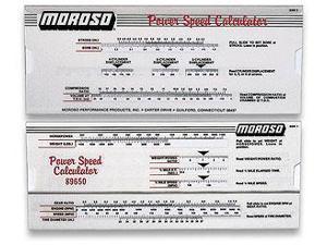 Moroso Performance Power Speed Calculator