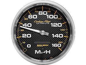 Auto Meter Carbon Fiber Electric In-Dash Speedometer