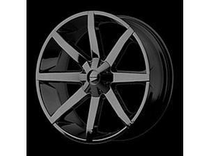 American Racing 65122966338 KMC Slide Series 651 Black Wheel