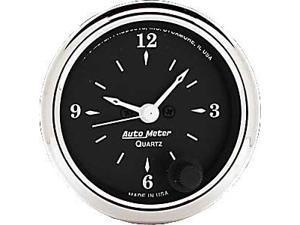 Auto Meter Old Tyme Black Clock