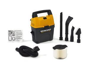 WORKSHOP Wet Dry Vacs WS0301VA Portable Shop Vacuum for Auto 3 Gal 3.5 Peak HP