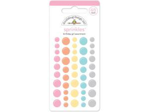 Sugar Shoppe Sprinkles Glossy Enamil Scrapbooking Stickers 45/Pkg-Birthday Girl