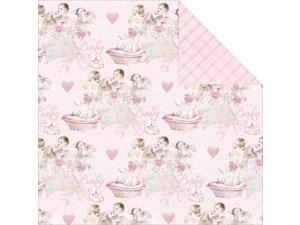 """Royal Baby Double-Sided Cardstock 12""""X12""""-Baby Girl"""
