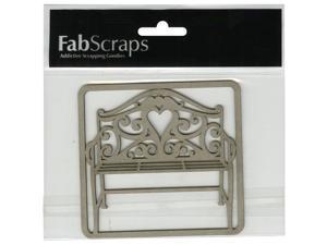 "Die-Cut Gray Chipboard Embellishments-Filigree Bench, 3""X4"""