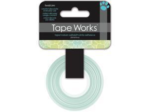 """Tape Works Tape .625""""X50ft-Blue/Green Giraffe"""