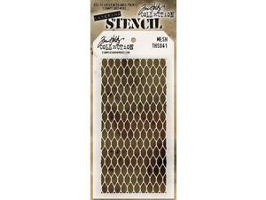 "Tim Holtz Layered Stencil 4.125""X8.5""-Mesh"