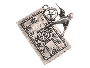 Silver Embellishments 10/Pkg-Bird Clock