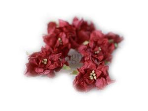 Vintage Gardenia 4/Pkg-Red