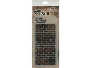 "Tim Holtz Layered Stencil 4.125""X8.5""-Bricked"