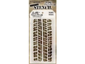 "Tim Holtz Layered Stencil 4.125""X8.5""-Treads"