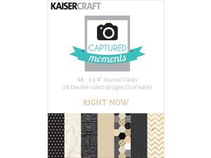 """Captured Moments Double-Sided Cards 3""""X4"""" 48/Pkg-Right Now"""