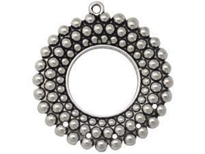 Silver Embellishments 6/Pkg-Circle Large