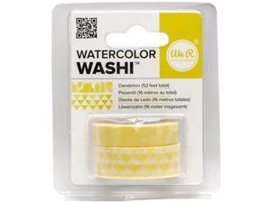 We R Watercolor Washi Tape 2/Pkg-Dandelion