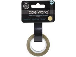 """Tape Works Glitter Tape .5""""X30'-Solid Gold"""