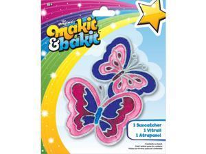 Makit & Bakit Suncatcher Kit-Butterflies