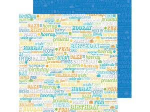 "Hip Hip Hooray Double-Sided Cardstock 12""X12""-Birthday Boy"