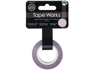 """Tape Works Glitter Tape .5""""X30'-Solid Pink"""