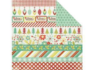 """Mistletoe Double-Sided Cardstock 12""""X12""""-Santa's Helper"""