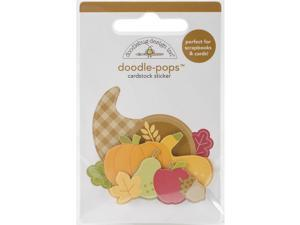 Doodlebug Doodle-Pops 3D Stickers-Fall Friends Give Thanks
