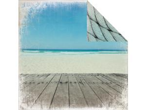 "Sandy Toes Double-Sided Cardstock 12""X12""-Ocean"