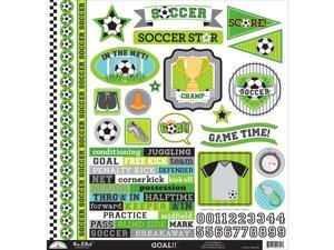"Goal!! This & That Cardstock Stickers 12""X12""-"