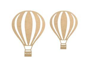 "Beyond The Page Mdf Hot Air Balloon Wall Art-14.5""X10.5""X.125"""