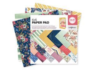 """We R Memory Keepers Paper Pad 6""""X6"""" 36/Pkg-Wildflower"""