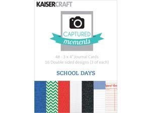 "Captured Moments Double-Sided Cards 3""X4"" 48/Pkg-School Days"